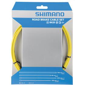 Shimano Road Cables de freno recubrimiento de teflón, yellow